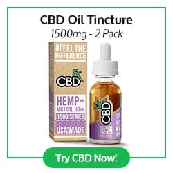 CBD Oil Tincture 1500mg - 2 Pack