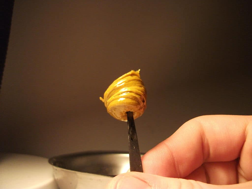 Honey Oil Dab about to be smoked